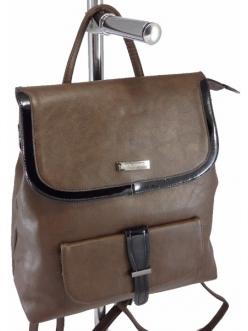 Женская сумка, цвет 89352 Коричневая Сумка-Рюкзак купить недорого