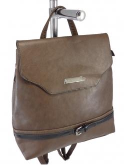 Женская сумка, цвет 89357 Коричневая Сумка-Рюкзак купить недорого