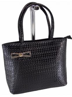 Женская сумка, цвет AL-476 Черная Лак купить недорого