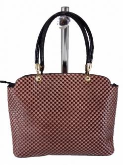 Женская сумка, цвет AL-594 Черная-Розовая ЛАК купить недорого