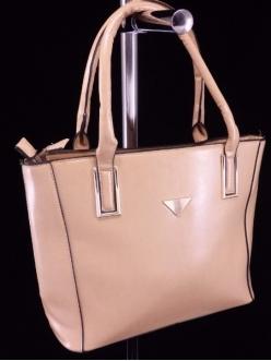Женская сумка, цвет L-623 Бежевая купить недорого