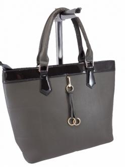 Женская сумка, цвет L-638 Темно Серая купить недорого