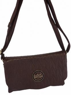 Женская сумка, цвет LJ-115 Кофейный Клатч купить недорого